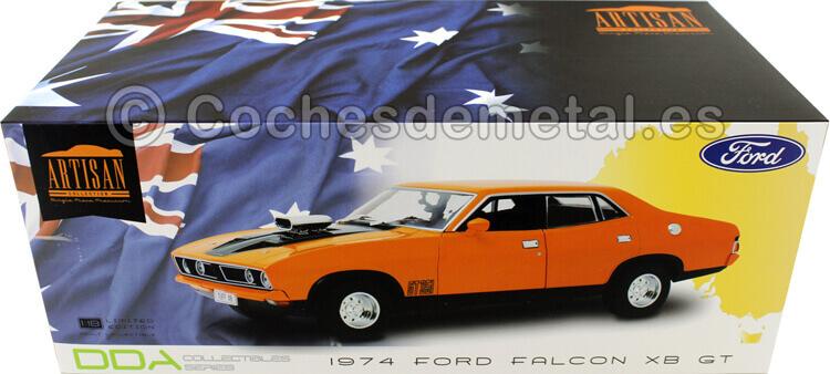 1974 Ford Falcon XB GT351 Sedan Orange 1:18 Greenlight 18015