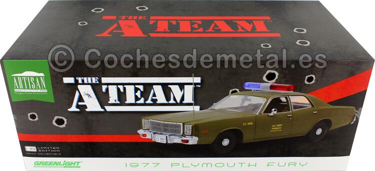 1983 Plymouth Fury Policia Militar A-Team Equipo-A 1:18 Greenlight 19053
