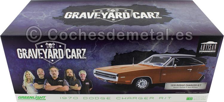 1970 Dodge Charger R/T TV-Show Graveyard Carz 2012 Naranja Oscuro 1:18 Greenlight 19077
