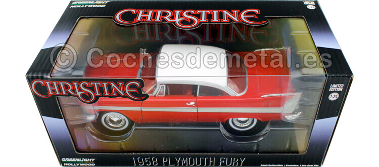 1958 Plymouth Fury Christine Red-White 1:24 Greenlight 84071