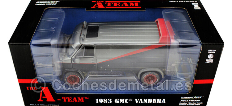 1983 GMC Vandura Cargo Van A-Team Equipo-A Sucia y Disparada 1:24 Greenlight 84112