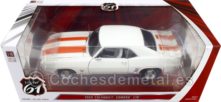 HI18026 - 1969 Chevrolet Camaro Z10 Pace Car Coupe Dover White 1:18 Highway-61 18026
