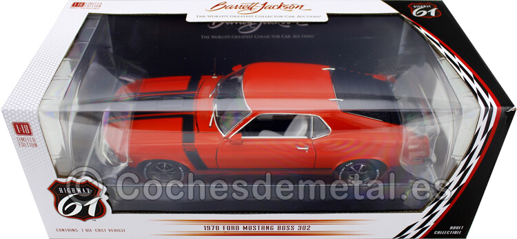 1970 Ford Mustang BOSS 302 Fastback Rojo/Negro 1:18 Highway-61 18030