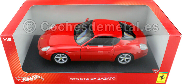2006 Ferrari 575 GTZ Zagato Rojo 1:18 Hot Wheels P9887