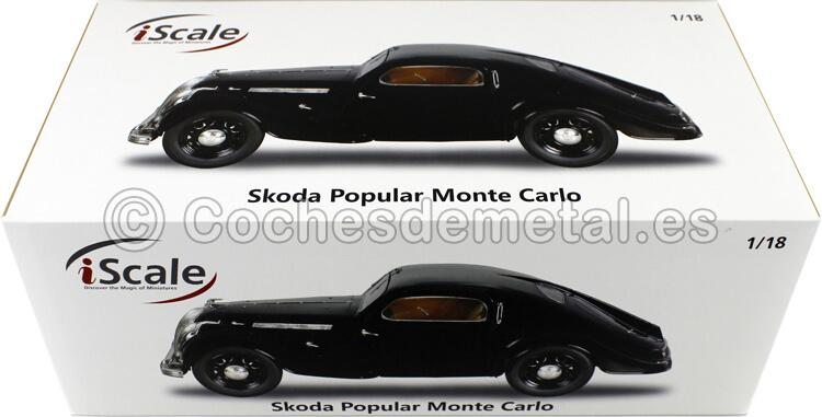 1935 Skoda Popular Sport Monte Carlo Black 1:18 iScale 1180000000030