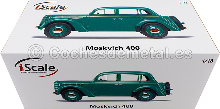 1946 Moskvich 400 Verde 1:18 iScale 118000000016