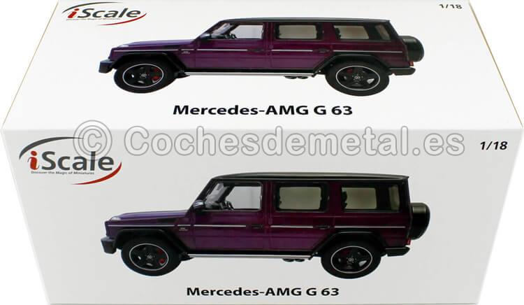 2018 Mercedes-Benz G-Klasse G63 AMG (W463) Violeta 1:18 iScale 118000000035