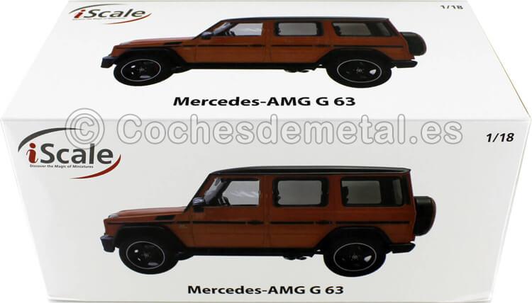 2018 Mercedes-Benz G-Klasse G63 AMG (W463) Naranja 1:18 iScale 118000000036
