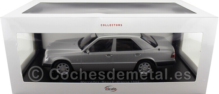 1989 Mercedes-Benz Clase E (W124) Astral Silver 1:18 iScale 11800000053