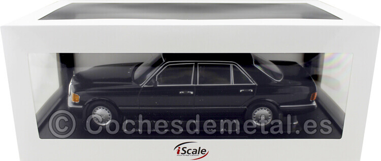 1985 Mercedes-Benz 560 SEL Clase S Facelift (W126) Negro 1:18 iScale 118000000058