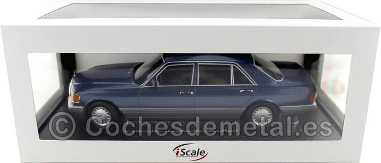 1985 Mercedes-Benz 560 SEL Clase S Facelift (W126) Azul Nautico 1:18 iScale 118000000060