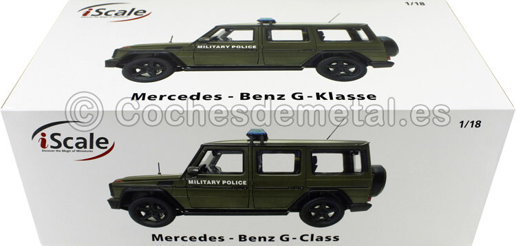 2015 Mercedes-Benz G-Klasse (W463) Policia Militar 1:18 iScale 118000000044
