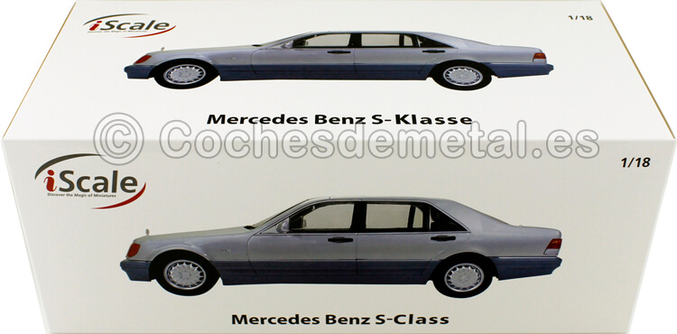1994 Mercedes-Benz S500 (W140) Gris Plata 1:18 iScale 11800000046