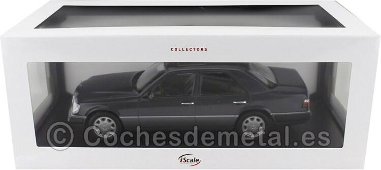 1989 Mercedes-Benz Clase E (W124) Metallic Blue 1:18 iScale 11800000054