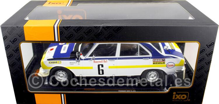 1975 Peugeot 504 Ti Winner Rallye Marruecos Mikkola/Todt 1:18 IXO Models 18RMC044A
