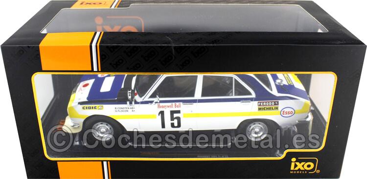 1975 Peugeot 504 Ti Rallye Marruecos Consten/Flocon 1:18 IXO Models 18RMC044C