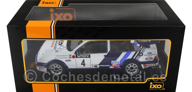 1988 Ford Sierra RS Cosworth 4 Blomqvist/Melander 1000 Lakes Rallye 1:18 IXO Models 18RMC045B