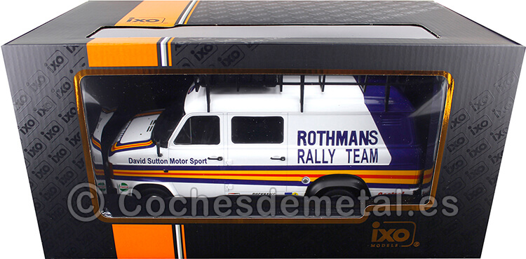1979 Ford Transit MKII VAN Team Rothmans Rally Assistance con Accesorios 1:18 Ixo Models RMC057XE