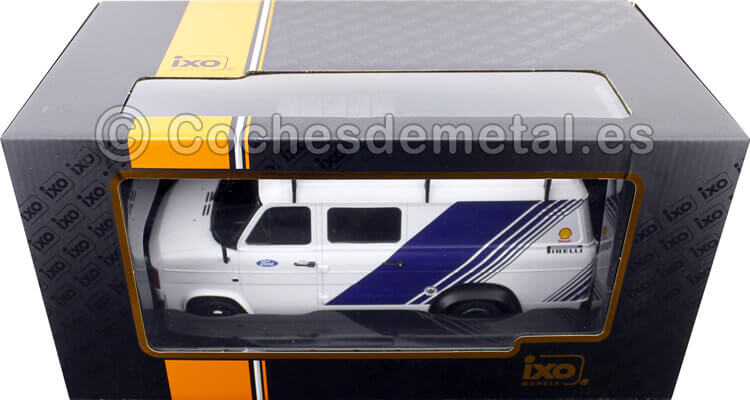1979 Ford Transit MKII VAN Team Ford Rally Assistance con accesorios 1:18 Ixo Models RMC058XE