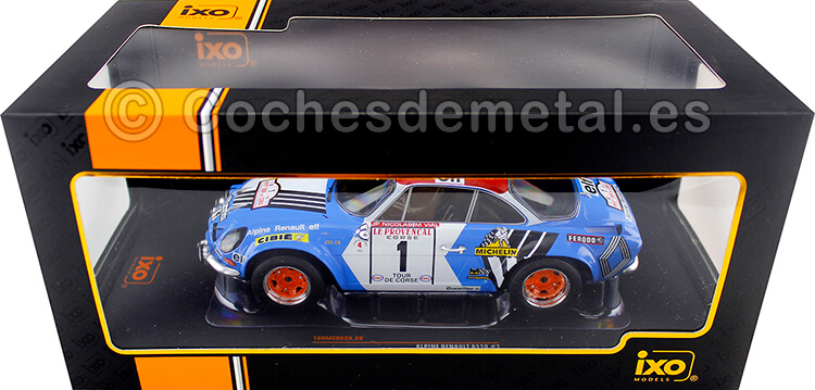 1973 Alpine Renault A110 1800 Winner Rallye Tour de Corse Nicolas/Vial 1:18 IXO Models 18RMC062A