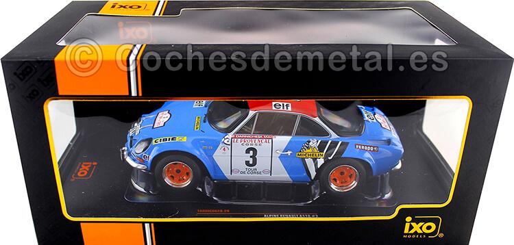 1973 Alpine Renault A110 1800 Rallye Tour de Corse Darniche/Mahe 1:18 IXO Models 18RMC062B