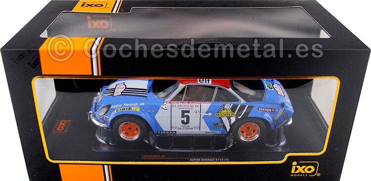 1973 Alpine Renault A110 1800 Rallye Tour de Corse Piot/Alexandris 1:18 IXO Models 18RMC062C