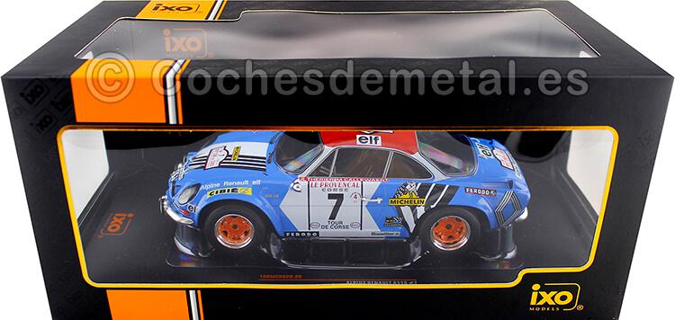 1973 Alpine Renault A110 1800 Rallye Tour de Corse Therier/Callewaert 1:18 IXO Models 18RMC062D