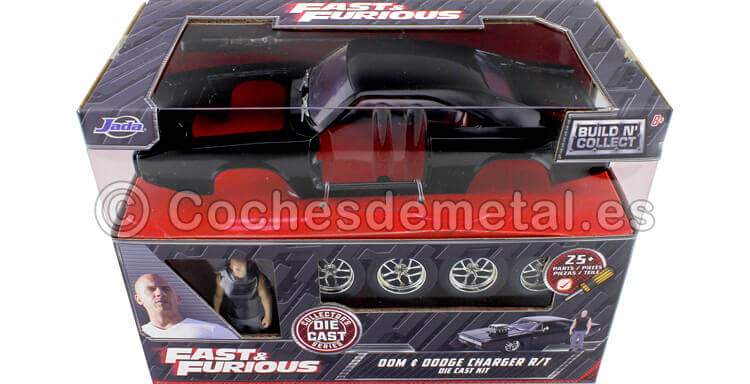 1970 Dodge Charger R/T Fast&Furious 7 + Figura Dom Metal KIT 1:24 Jada Toys 30698