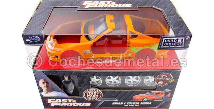 1995 Toyota Supra Fast&Furious + Figura Brian Metal KIT 1:24 Jada Toys 30699