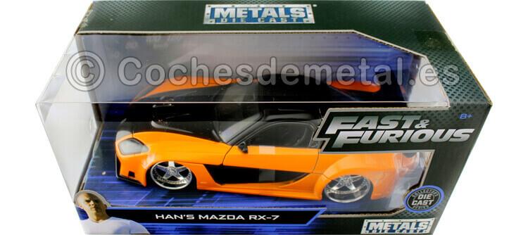 2006 Mazda RX-7 Fast & Furious Tokyo Drift Orange/Black 1:24 Jada Toys 30732