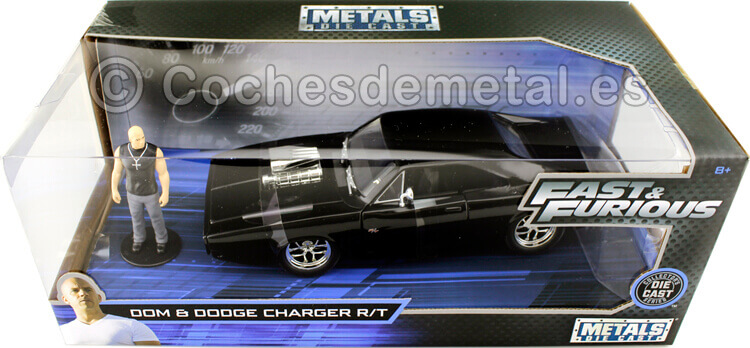 1970 Dodge Charger R/T Fast & Furious 7 + Figura Dom 1:24 Jada Toys 30737