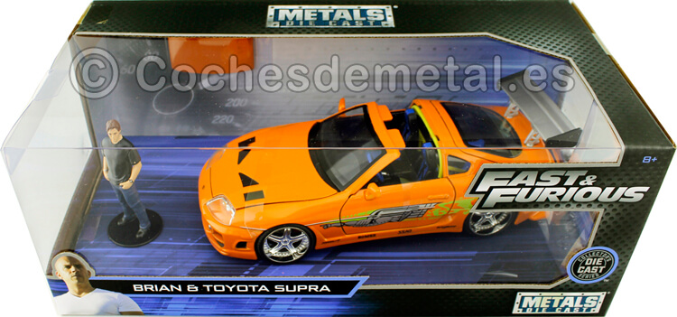 1995 Toyota Supra Fast & Furious + Figura Brian 1:24 Jada Toys 30738