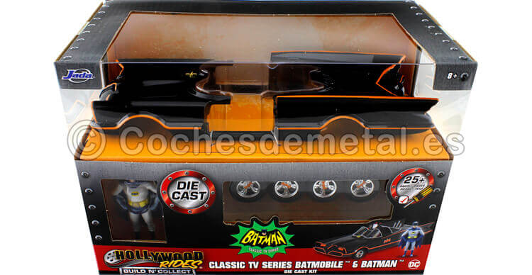 1966 TV Series Batmobile con Batman y Robin Metal KIT 1:24 Jada Toys 30873