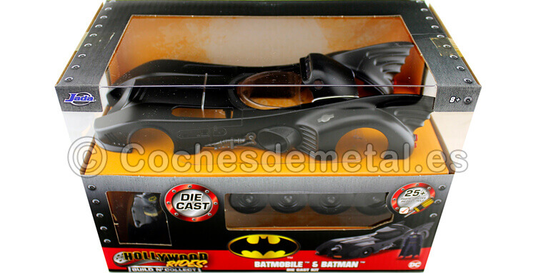1989 Batmobile Batman Returns con Figura de Batman Metal KIT 1:24 Jada Toys 30874