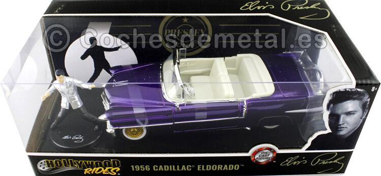 1956 Cadillac Eldorado Elvis Presley Violeta 1:24 Jada Toys 30985