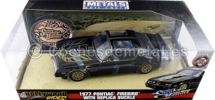 1977 Pontiac Firebird Trans AM Los Caraduras + Placa Conmemorativa 1:24 Jada Toys 30998
