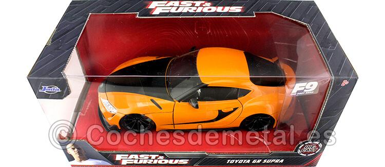 2021 Toyota GR Supra F9 The Fast Saga Fast & Furious IX Naranja/Negro 1:24 Jada Toys 32097
