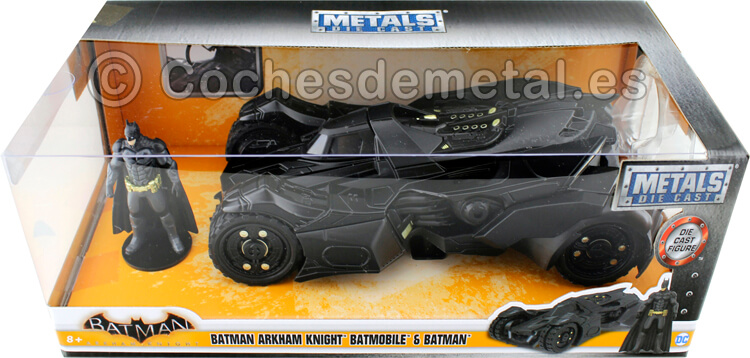 2015 The Arkham Knight Batmobile + Figura de Batman 1:24 Jada Toys 98037