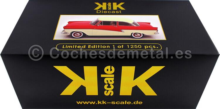 1957 Ford Taunus 17M P2 Rojo/Blanco 1:18 KK-Scale 180271