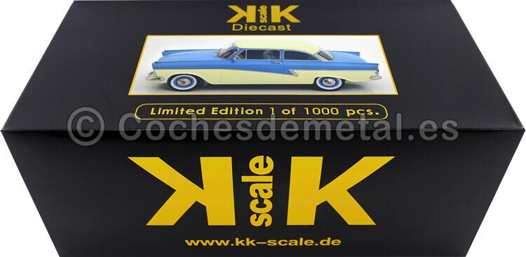 1957 Ford Taunus 17M P2 Turquesa/Blanco 1:18 KK-Scale 180272
