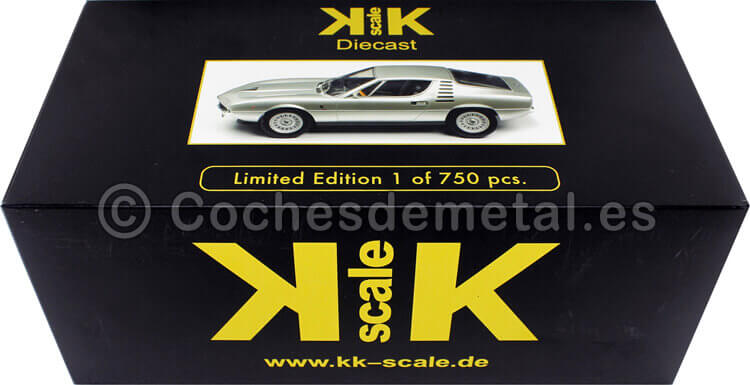 1970 Alfa Romeo Montreal Gris Plata 1:18 KK-Scale 180382