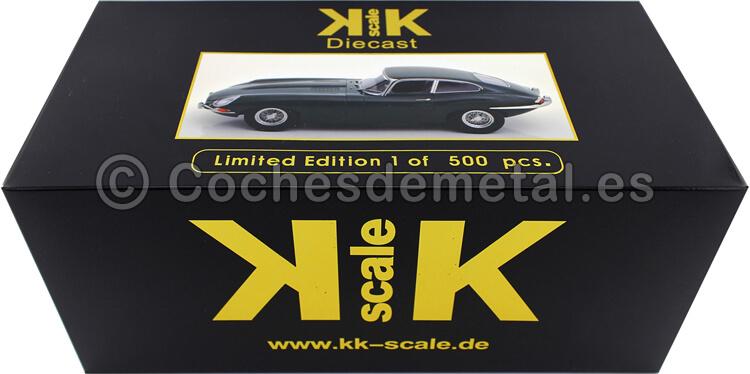 1961 Jaguar E-Type Coupe Series 1 LHD Verde Ingles 1:18 KK-Scale 180431