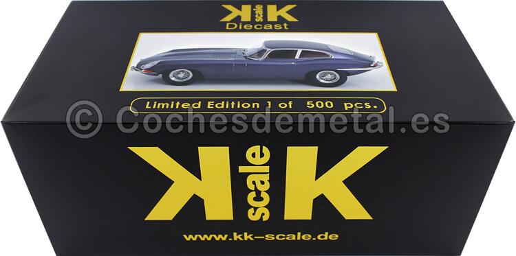 1961 Jaguar E-Type Coupe Series 1 LHD Gris Metalizado 1:18 KK-Scale 180432