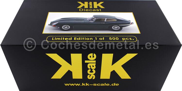 1961 Jaguar E-Type Coupe Series 1 RHD Verde Ingles 1:18 KK-Scale 180433