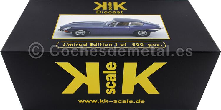 1961 Jaguar E-Type Coupe Series 1 RHD Gris Metalizado 1:18 KK-Scale 180434