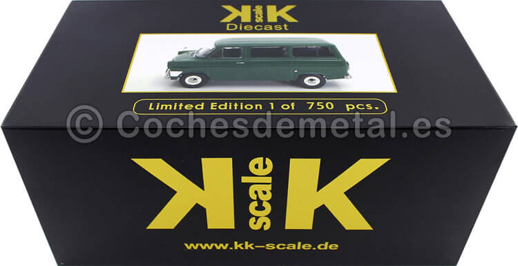 1965 Microbus Ford Transit MK1 Verde Oscuro 1:18 KK-Scale 180462