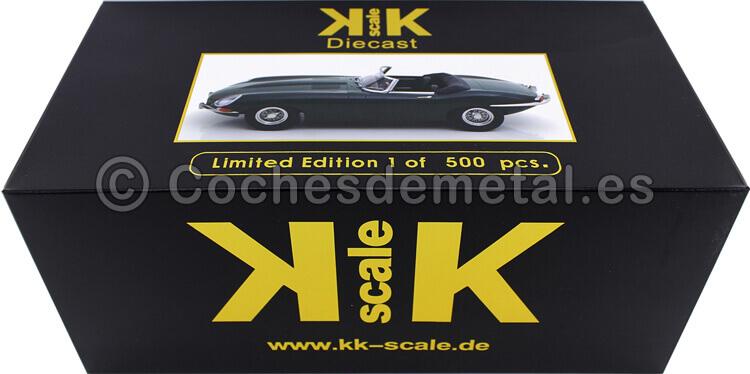 1961 Jaguar E-Type Cabriolet Open Top Series 1 LHD Verde Ingles 1:18 KK-Scale 180481