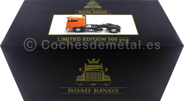 1977 Camion Volvo F10 Naranja 1:18 Road Kings 180035