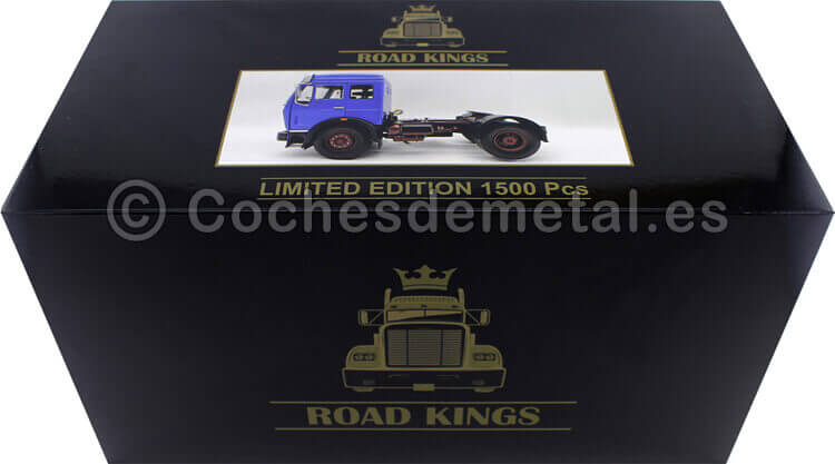 1973 Camion Mercedes-Benz NG 1632 Azul 1:18 Road Kings 180041