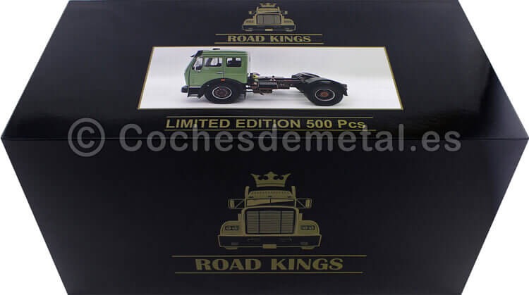 1973 Camion Mercedes-Benz NG 1632 Verde 1:18 Road Kings 180042